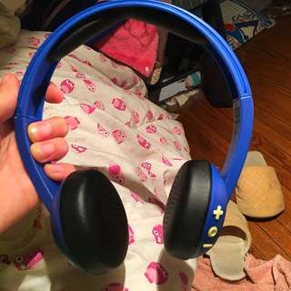 Blue Skull candy uproar Bluetooth headphones