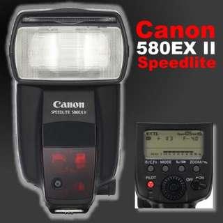 Canon 580 EXII 閃光燈,貿易商貨,少用九五成新。