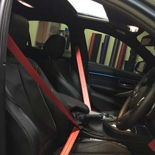 Bmw f30 red sit belt LCI 330E