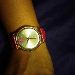 Pink Swatch Watch Limited Edition