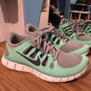 Nike Free Runs; Tiffany blue