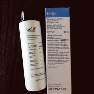 Belif Eucalyptus herbal extract toner for oily skin