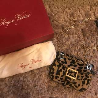 🐆 Authentic Roger Vivier Leopard Shoulder Bag 🐆