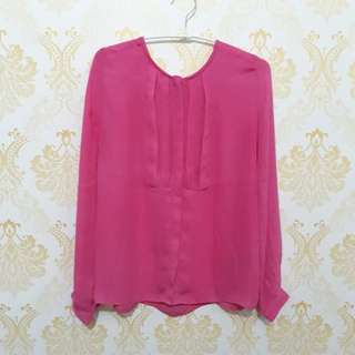 Blouse LS baby pink