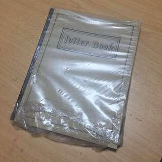 Blank jotter book