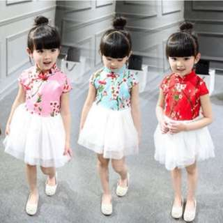 Baby and girls cheongsam dress