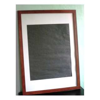 Big Wooden Picture Frame – Mahogany Color