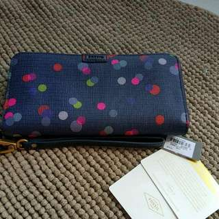 Fossil Multi Dots Wallet (with zipper)