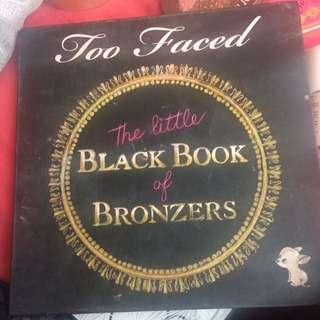 Too faced black book of bronzer