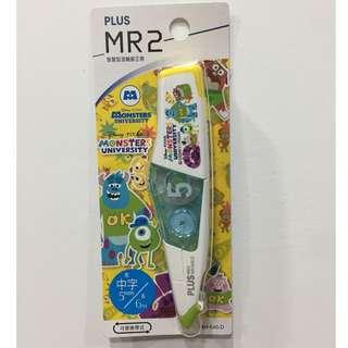 怪獸大學二代 PLUS普樂士MR2 智慧型滾輪修正帶限定版立可帶 DISNEY 迪士尼 毛怪 大眼仔 Monsters