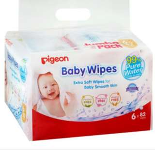 Pigeon Baby Wipes 6 in 1 ( Got 7 packs of 6 in 1 )