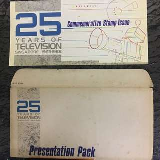 25 years of television commemorative stamps issue 1988