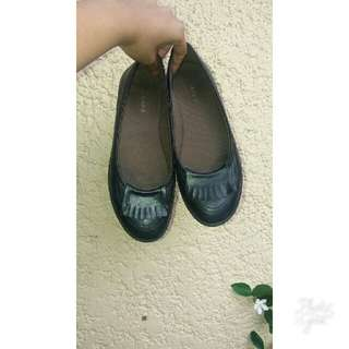 Janeo black doll shoes