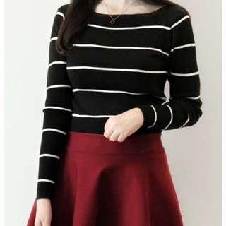 女孩最愛❤️細條紋針織衫