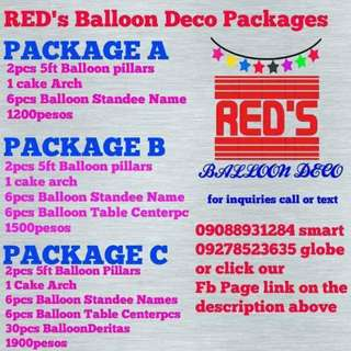 Balloon decoration and Balloon Pillars