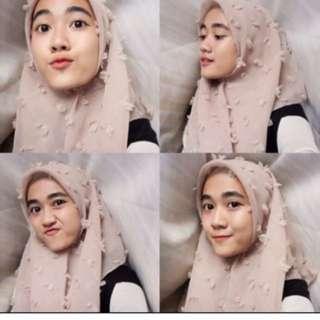 Kerudung jilbab linen ruby