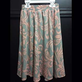 Preloved Batik Skirt (dusty grey)