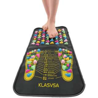 Chinese Reflexology Walk Stone Pain Relieve Foot Leg Massager Mat Health Care Acupressure Acupuncturist