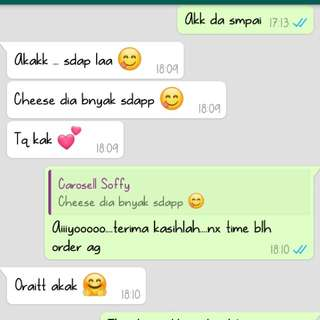 This is our cust feedback....tqvm from miaqis cheesekut