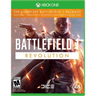 Battlefield 1 Revolution- xbox1 new