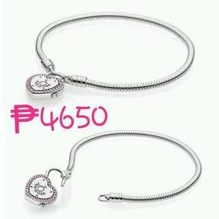 832be533e PANDORA Moments Silver Lock Your Promise Heart Clasp Bracelet