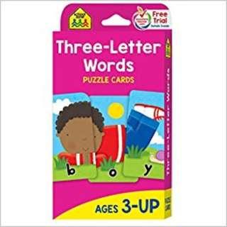 Three-Letter Words Flash Cards, School Zone Publishing Company Staff