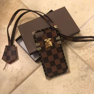 Pre-order New LV style Damier Petite Malle iPhone Case
