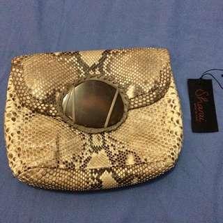 Sharai Phyton Skin Clutch bag