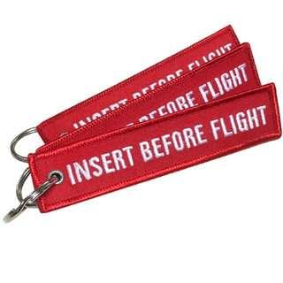 INSERT EFORE FLIGHT KEYCHAIN KEY TAG