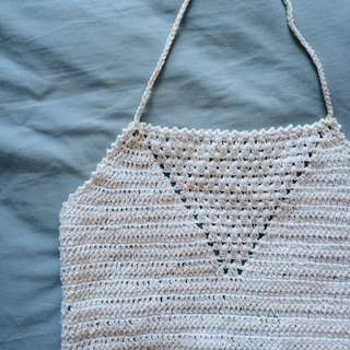 Crocheted halter top size 8-10