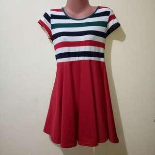 Stripes up red below