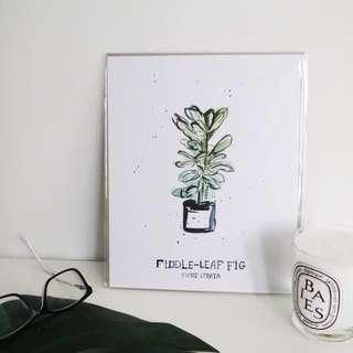 Fiddle Leaf Fig Art Print - Minimalist