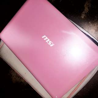 RUSH SALE: PINK CUTIEPATOOTIE MSI LAPTOP ONLY FOR 6999 PRICE IS NEGOTIABLE