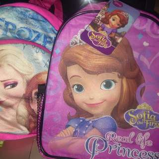 Both Sofia and Frozen Bag for only 80 pesos