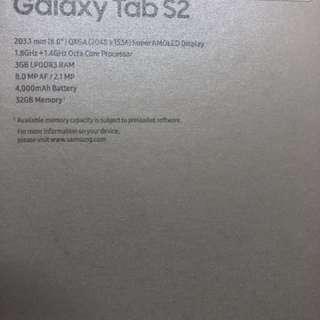 Galaxy Tab S2 Wi-Fi 8吋Mon 32GB
