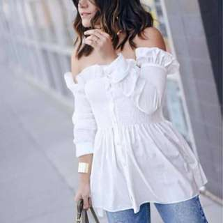Smocked Long Blouse
