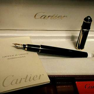 Vintage Cartier Diabolo Foundation Pen 18K Gold Nib with box  ST180020卡地亞墨水筆