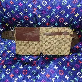Authenthic Gucci Waist Belt Bag Leather Brown