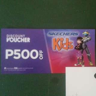 Skechers kids discount voucher 500 off
