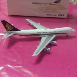 Aircraft model. Singapore Airlines Cargo. 9V-SQU.