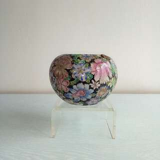 Antique Famille Rose Porcelain Brush washer height 9cm diameter 7.5cm perfect