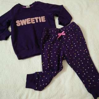 H&M baby girl sweatshirt and jogger
