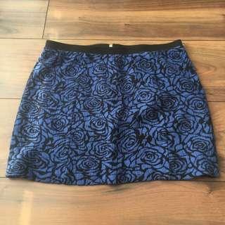 Forever 21 Electric Blue Bandage Skirt