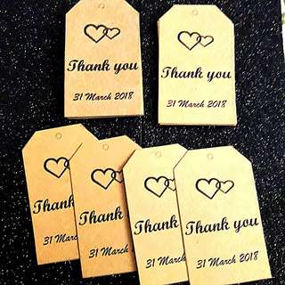 Kraft paper with Thank you tag