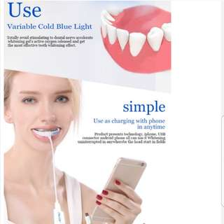 Personal care Blue Teeth Whitening USB LED Light, support mobile phones teeth whitening light with tray