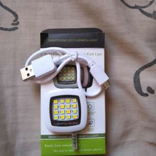 Rechargeable smartphone led flash & fill-light