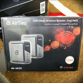 BNIB Airties Wifi Mesh 1600Mbps DUAL PACK (WILL SEND TO U)
