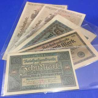 German old note (5pcs)