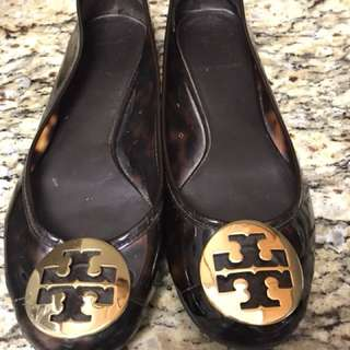 Authentic Tory Burch Reva Flats Shoes Size 7