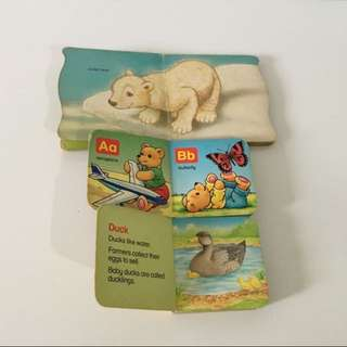3 For 3$ Pudgy Zoo Babies, Teddy's ABC, Farm Animals Books For Baby